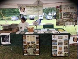 A picture of South Jersey Quail Project booth.